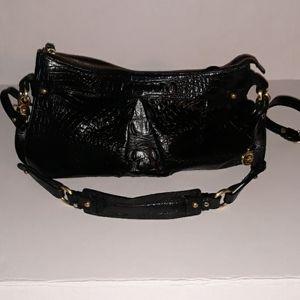 Brahmin Black Leather Crossbody Shoulder Bag